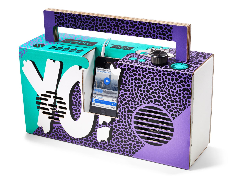 Yo! MTV Raps Boombox by Berlin Boombox. Designed by Axel Pfaender