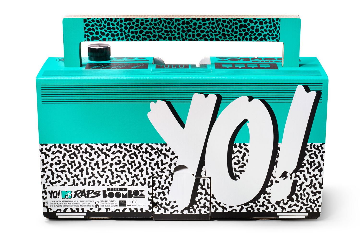 Yo! MTV Raps Boombox by Berlin Boombox. Designed by Axel Pfaender