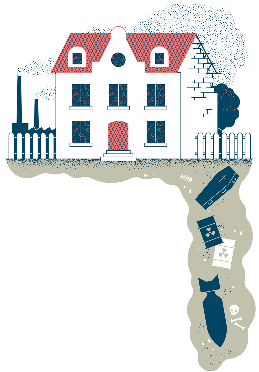 Illustration von Axel Pfaender für Focus Spezial Immobilien
