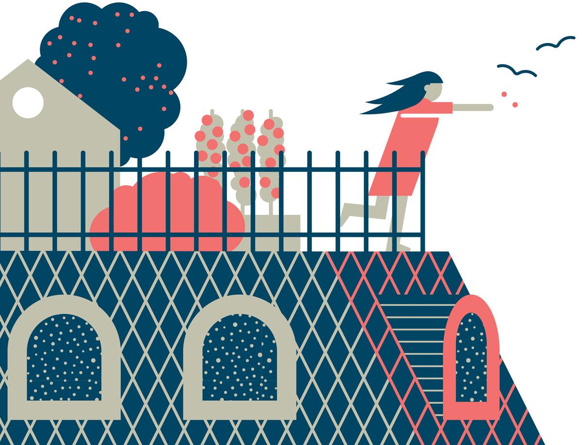 Detail, Illustration von Axel Pfaender für Focus Spezial, Immobilientipps