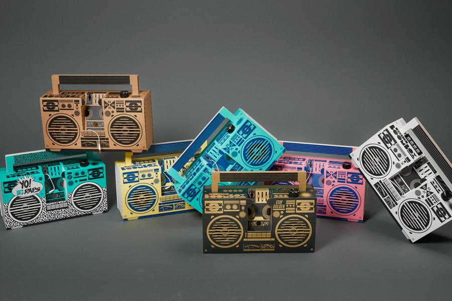 Berlin Boombox Modelle in verschiedenen Designs und Farben