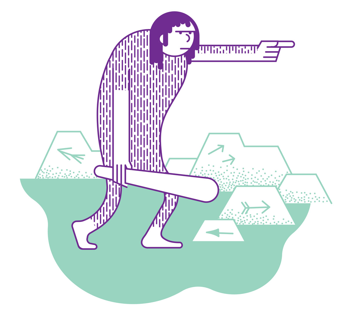 Australopithecus, illustration by Axel Pfaender for Fluter magazine.
