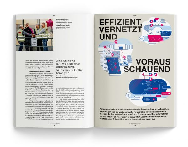 Spread of Progroup magazine